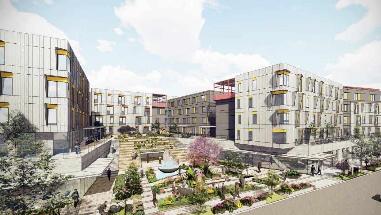 Houston housing development rendering