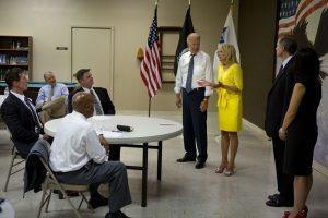 President Joe Biden and his wife Dr. Jill Bide visiting the U.S.VETS Las Vegas location.