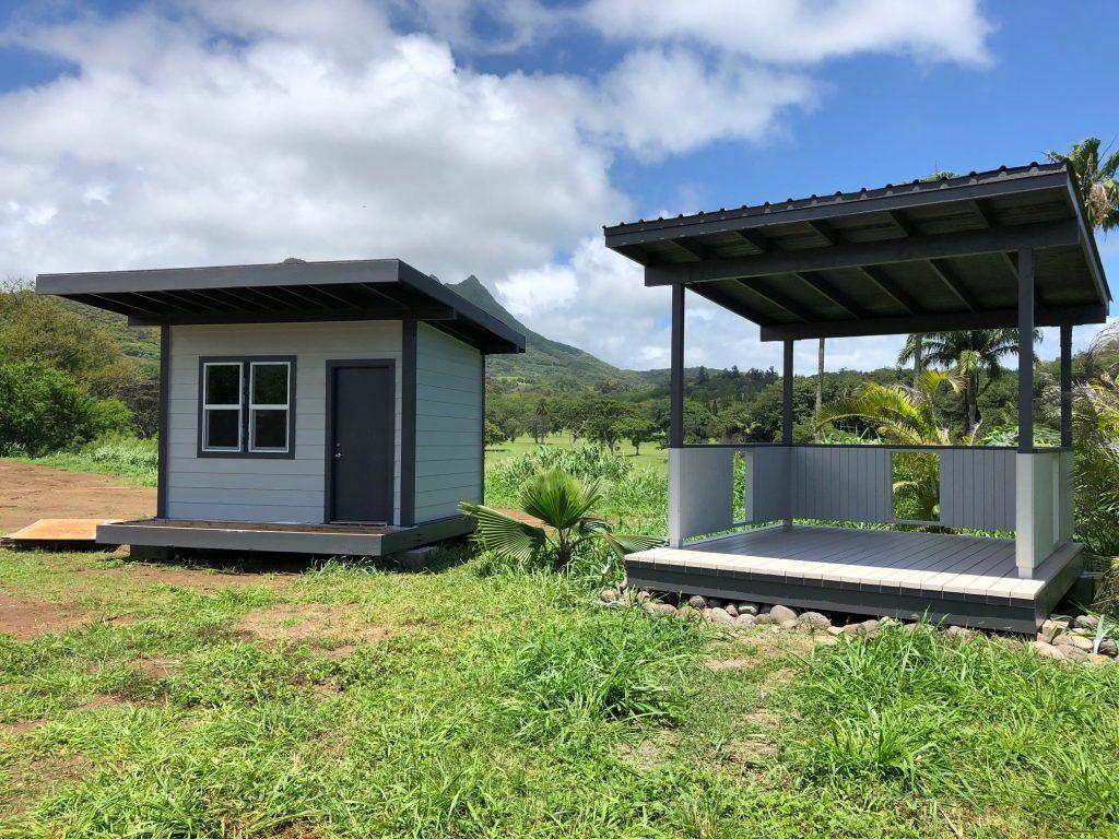 Final Unit Cabana at the Kalaeloa Kahuale site.
