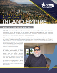 Image of the first page of the March Veterans Village informative PDF