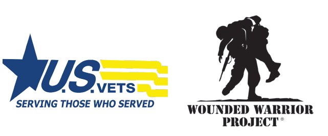 U.S.VETS and Wounded Warrior Project logos
