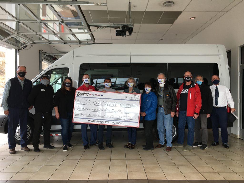 Image of van that was donated to U.S.VETS - Prescott.